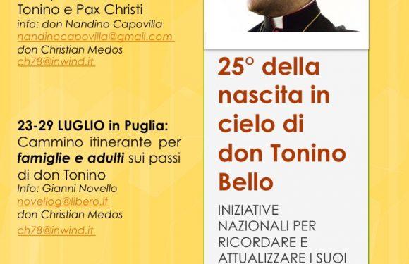 25mo della nascita in cielo di don Tonino Bello – tutte le iniziative di Pax Christi