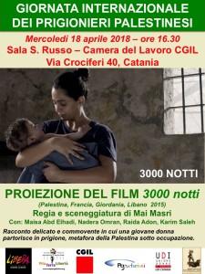 """A Catania, manifestazione per la """"Giornata Internazionale dei Prigionieri Palestinesi"""""""