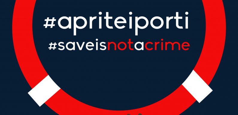 Appello al rispetto delle Convenzioni di diritto del mare e dei diritti umani #apriteiporti