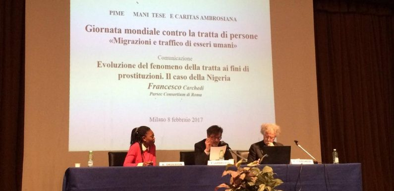 Blessing Okoedion insignita con il Trafficking in Persons Report Heroes