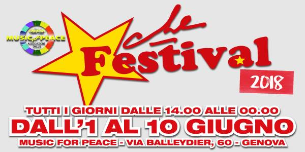 Che Festival 2018, a Genova dal 1 giugno