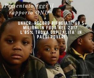 L'ONU sui migranti. sono i paesi poveri ad accoglierne di più