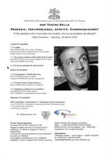 Don Tonino Bello. Profezia,testimonianza, santità. Canonizzazione?