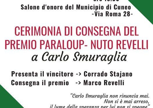 A Carlo Smuraglia il Premio Paraloup-Nuto Revelli 2018