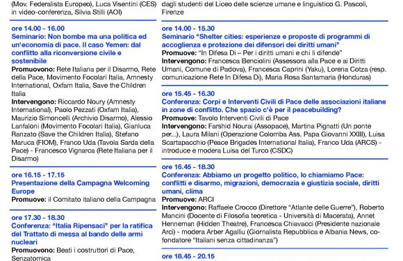 A Perugia dialogo sull'articolo 11 della Costituzione tra Carla Nespolo e Alex Zanotelli