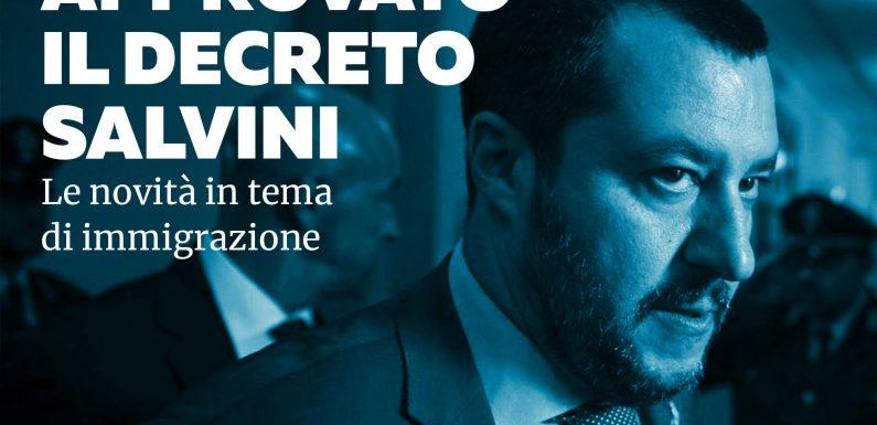 """Approvato il """"decreto Salvini"""": le novità in tema di immigrazione"""