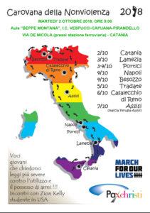 Giornata della nonviolenza a Catania e testimonianza conclusiva alla marcia Perugia-Assisi