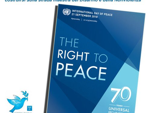 La Giornata della Pace 2018, sulla strada maestra del Disarmo e della Nonviolenza