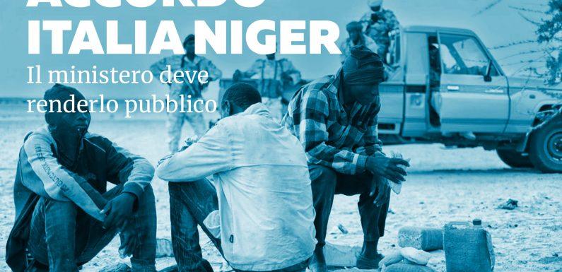 L'accordo Italia-Niger deve essere pubblico