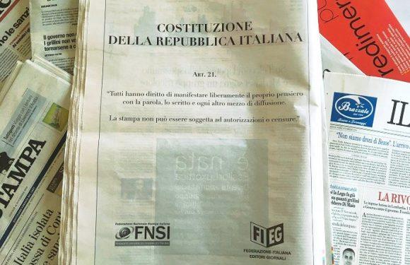 Mobilitazione Fieg – Fnsi: «Pubblichiamo l'articolo 21 in risposta agli attacchi del governo»