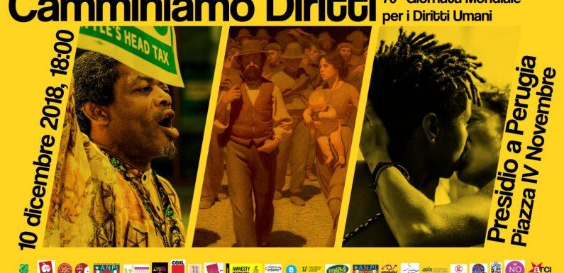 Camminiamo diritti. Il 10 dicembre a Perugia