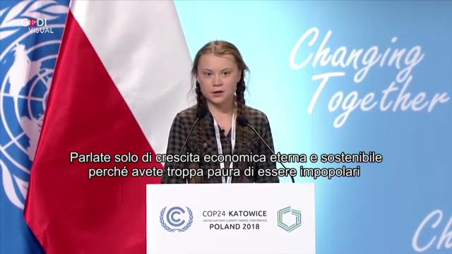 Il discorso di Greta ai leader mondiali