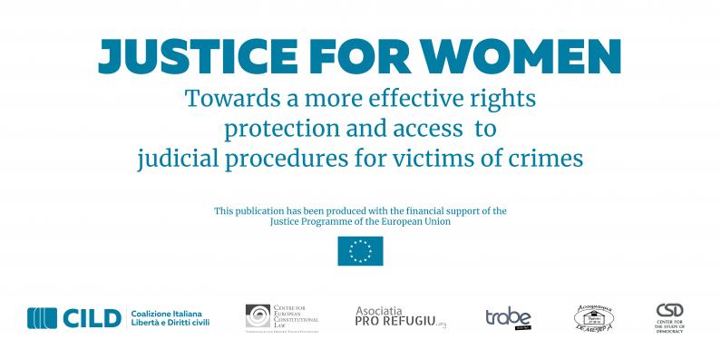 Justice for Women: ecco il progetto europeo al quale collaboriamo