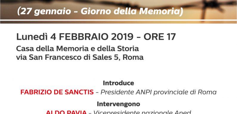 Il 27 gennaio l'ANPI in tutta Italia perché l'orrore non accada più