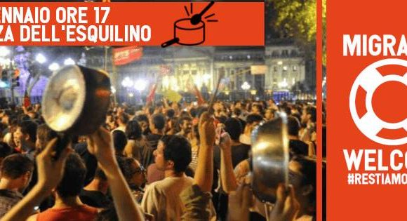 Protesta della rete restiamo umani: politiche governo sono responsabili del dramma in corso nel mediterraneo e del clima di odio nella società