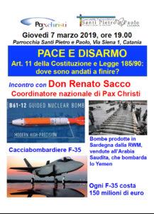 Incontro a Catania con don Renato Sacco