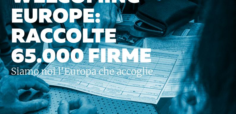 Welcoming Europe: 65.000 firme per l'Europa che accoglie