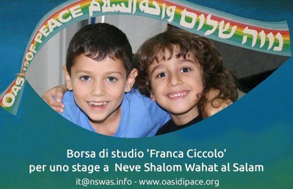 Borsa di studio per villaggio di Neve Shalom Wahat al-Salam