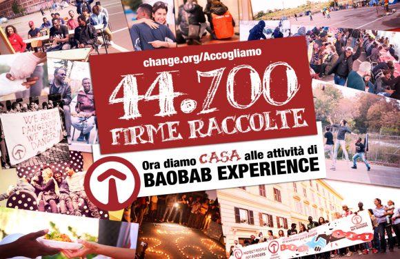 """COMUNICATO STAMPA – """"Diamo una casa alle attività di Baobab Experience"""""""