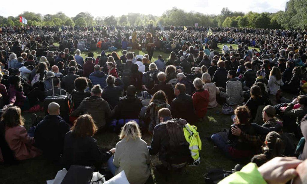 Extinction rebellion, cambiamento climatico, Hyde Park