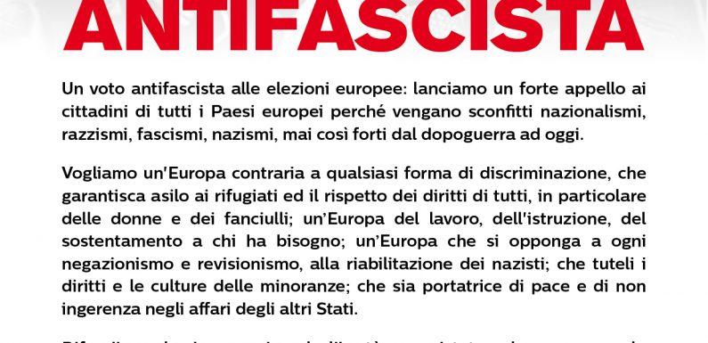 Appello VOTA ANTIFASCISTA: le adesioni dei Sindacati europei e dei candidati di Pd, La Sinistra, Più Europa, Europa Verde