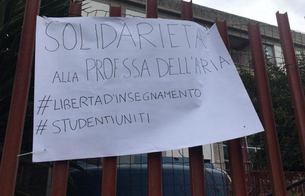 Catania, al Galileo Galilei manifestazione a sostegno di Rosa Maria Dell'Aria