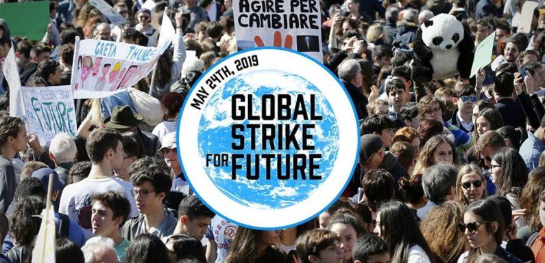 Clima, il 24 maggio Global Strike for Future