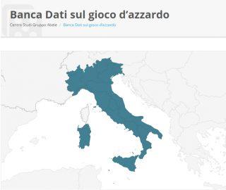La mappa nazionale dei servizi contro la ludopatia