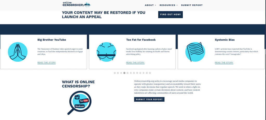 censura, online, diritti umani, social media