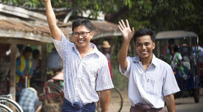 Myanmar, tornano in libertà i due giornalisti della Reuters condannati a sette anni