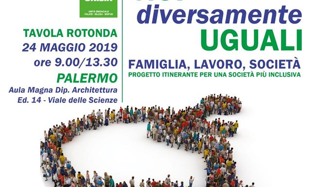 """""""Noi diversamente uguali"""". Palermo, 24 maggio"""