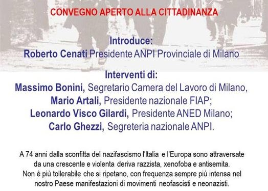 Per un'Italia e un'Europa pienamente antifasciste