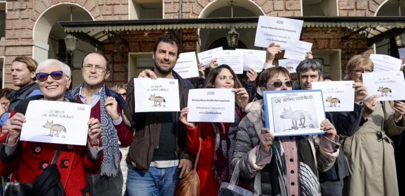 Tagli e bavagli: protesta dei giornalisti