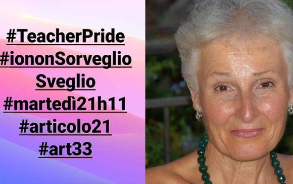 Teacher Pride a sostegno della prof Dell'Aria