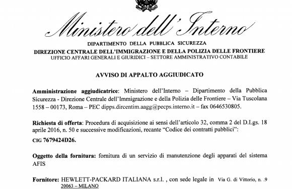 Gli appalti italiani per fermare i migranti in Egitto. Il caso del sistema di identificazione di Hewlett Packard