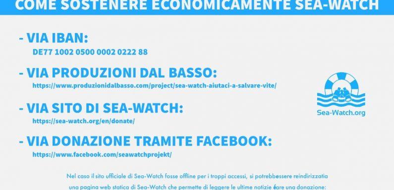 Sea-Watch, corsa alle donazioni