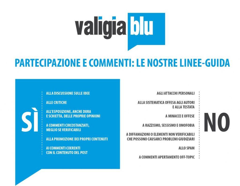 Valigia Blu, commenti, social, moderazione, policy