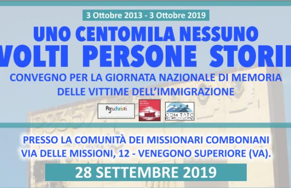 Giornata nazionale di memoria delle vittime dell'immigrazione