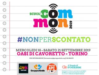 Meno tre alla Scuola Common 2019: temi e relatori della quattro giorni per comunità monitoranti