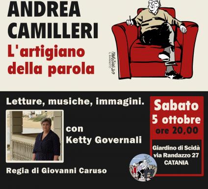 Andrea Camilleri, l'artigiano della parola. A Catania una serata per ricordare lo scrittore.