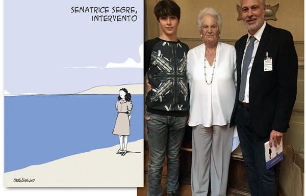 La senatrice Segre