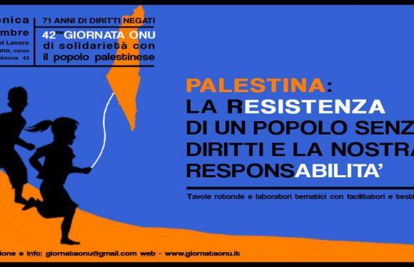 1° Dicembre 2019, Milano – Giornata Onu di solidarietà con il popolo palestinese