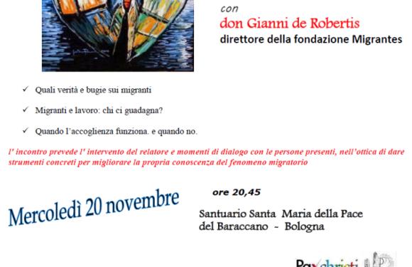 Punto Pace di Bologna – 20 Novembre – Dobbiamo accogliere?