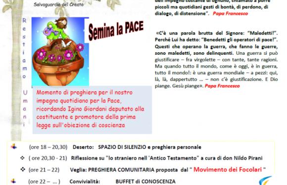 """Punto Pace di Bologna – veglia """"Semina la pace"""""""