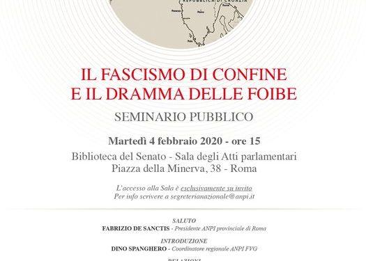 """""""IL FASCISMO DI CONFINE E IL DRAMMA DELLE FOIBE"""""""