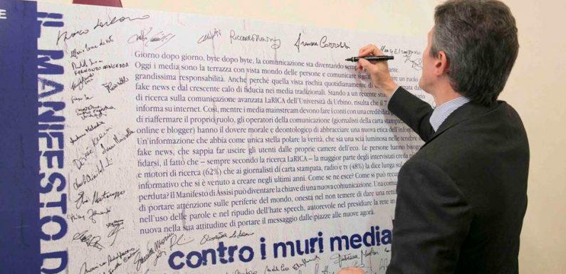 """Si terrà a Roma il sinodo dell'informazione """"Carta di Assisi: ponti, non muri"""""""
