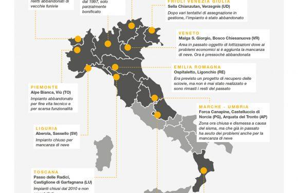 Poca neve e ancor meno idee per la riconversione: le montagne italiane al tempo dei cambiamenti climatici