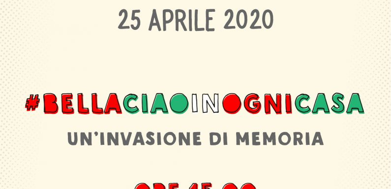 """""""Il 25 aprile il Paese intero canti Bella Ciao, c'è bisogno di speranza e unità"""""""