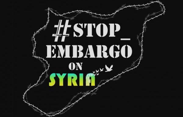 Il tempo della pace è ora: stop embargo in Siria