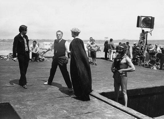 Fellini e Peter Amman analista da set
